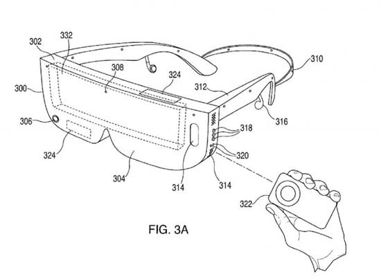 苹果头戴式设备的专利图案描述