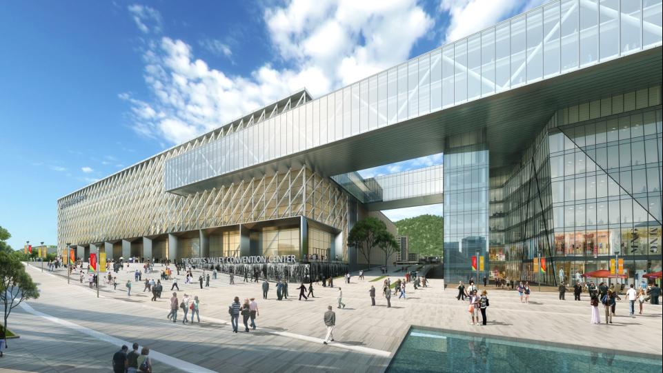 中国光谷科技会展中心东南面透视图